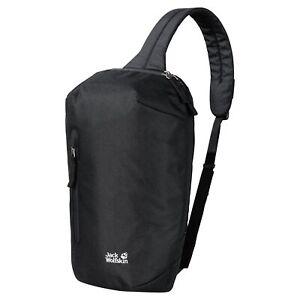 Jack Wolfskin Maroubra Outdoor Walking Hiking Sling Shoulder Bag Black
