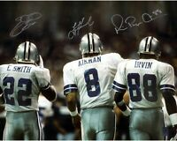 Aikman / Smith / Irvin Autographed Signed 8x10 Photo ( HOF Cowboys ) REPRINT