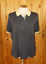 PRINGLE navy blue yellow short sleeve golf polo shirt tunic t-shirt top M 10-12