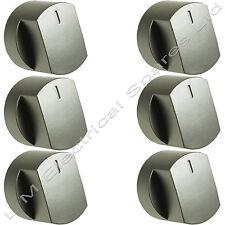 6 x silber Backofen Herd Kochfeld Regler Schalter Für Stoves 444445109 444445110