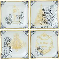 DISNEY Beauty and the Beast Belle Plate Set Dish Tablaware D-BB03 w/Tracking