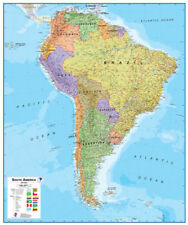 "Maps International South America LAMINATED Wall Map 39"" x 47"""