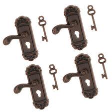 Crystal Medallion Knob 1//12 scale dollhouse miniature hardware CLA05685 1pr