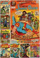 Lot of 9 Vintage SUPERMAN'S PAL JIMMY OLSEN Medium Low grade.