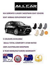 Sheepskin Car Seatcovers for Kia Sorento, Seat Airbag Safe, 5 Colours.30mm TC