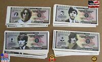The Beatles Fake Money, John, Paul, George, Ringo One Million Dollar Bills