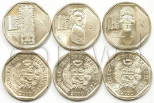 PERU 3 COINS SET 2010 WEALTH AND PRIDE OF PERU UNC (#1509)