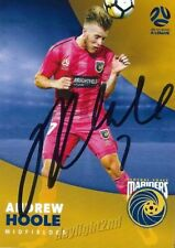 ✺Signed✺ 2017 2018 CENTRAL COAST MARINERS A-League Card ANDREW HOOLE