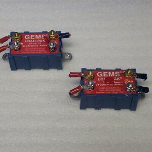 GEMS Sensors  ST-20173  Load Pak 24-260 VAC- 5A Terminal (Lot of 2) Delaval