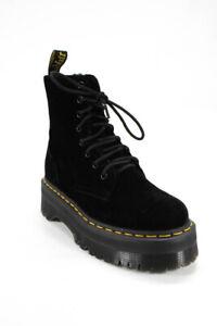 Dr. Martens Womens Jadon Platform Velvet Ankle Boots Black Size 5