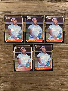 (5) 1987 Donruss Bo Jackson Rookie RC #35 Baseball All NM - MINT