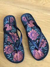 Ipanema Flip Flops Gr. 41/42 Blau mit Blüten