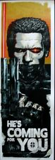 TERMINATOR COMING FOR YOU RHYS COOPER Limited edition print 150 SCHWARZENEGGER