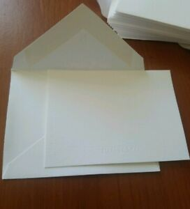Tiffany & Co White Paper Note Gift Card & Envelope