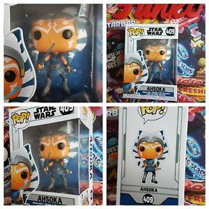 Funko Pop Movies Star Wars Ahsoka Bobblehead Figure #409 FREE P&P + POP CASE New