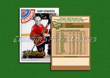 Gary Edwards - Cleveland Barons - Custom Hockey Card  - 1977-78
