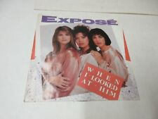 EXPOSE When I Looked At Him 45  Record Picture Sleeve NM