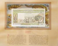 RARE signature 15 1981  West African States Togo 500 Francs UNC P 806Tc   T.9