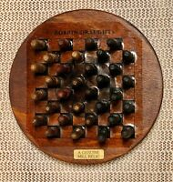 28 Bobbin Draughts & Wood Flange Game Board 1924 Oxford Mill Rochdale Manchester