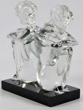 Leonardo Rosin Murano Clear Glass Sculpture Lot 36