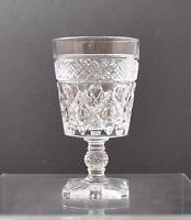 """Vintage Imperial Glass Ohio Cape Cod Clear Water Goblet Wafer c1932-84 5 1/4"""" G6"""