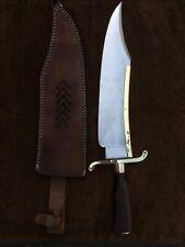 Custom Handmade 5160 Spring Steel Alamo Musso Bowie Knife True Replica, JimBowi