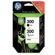 HP 300 2 Original  Black & Colour Ink Cartridges Deskjet F2420 F2480 F2492 F4210
