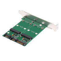 Dual Port mSATA Mini PCI-E SSD to SATA III 3.0 Adapter with PCI Bracket