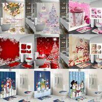 Weihnachten Schnee Druckschrift Wasserfest Badezimmer Duschvorhang Wc Deckel Mat
