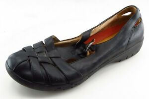 Clarks Size 11 N Black Gladiator Leather Women Sandal Shoes