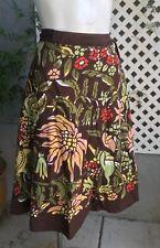 LUCKY BRAND Boho Hippie Festival Wrap Around Floral Cotton Skirt Sz XS