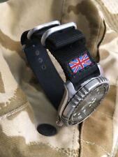 Union Jack Zulu Diver Reloj Correa de la OTAN 22mm Negro vendedor del Reino Unido