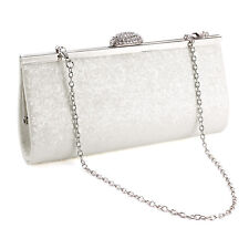 All-Over Glitter Lady Clutch Evening Handbag Shiny Rhinestones Top Clasp Bling