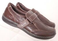 Born Concept B.O.C. C81123 Brown Stitched Split Toe Loafers Flats Women's US 8M