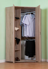 Chester Corner Wardrobe with Hanging Rail and Shelves in Oak R117O