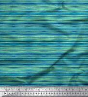 Streifen Stoff Fb Meterware /'Hellblau /& Dkl.-Grün 150cm Batist