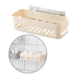 Plastic Bath Shower Caddy Shampoo Holder Kitchen Wall Storage Shelf Basket