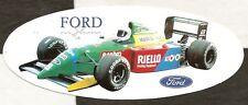 1990 BENETTON FORD B190 'FORD ON SHOW' F1 GP ORIGINAL PERIOD STICKER AUFKLEBER