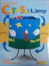 "Christian Carousel Lamp - ""The Lord is My Shepherd"""