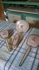 Vintage retro deco regent of London 4Piece  Vanity  Dressing Table Set inc Clock