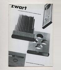 1983 Museum Boymans-van Beuningen PIET ZWART Dutch AvantGarde BRUYNZEEL Typotekt