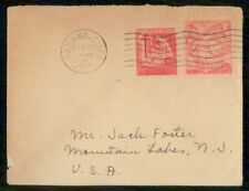 Mayfairstamps Habana 1950 to Mountain Lakes TB Woman Flag Cover wwh_21505
