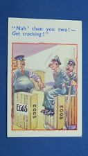 Vintage Railways Comic Postcard 1940s Railway Station Porter EGGS Theme