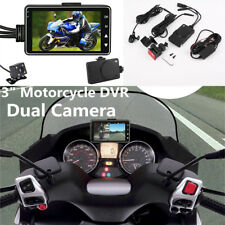 "3"" Motorcycle DVR + 2 x Waterproof cameras Camera Video Recorder 140° Wide angle"