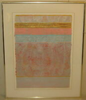 1979 PATRICK ARCHER 'Harmonic Variant #11' ABSTRACT Mixed Media Collage PAINTING