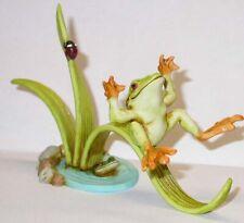 Harmony Kingdom Art Neil Eyre Designs tree frog fly ladybug pond leaf slide