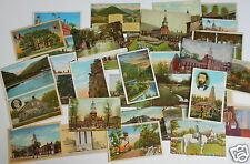 LOT OF 36 PA PENNSYLVANIA  VINTAGE POSTCARDS PITTSBURGH GETTYSBURG LORETTO ETC