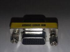 HD15 Female/ Female  mini gender changer VGA F/F gender changer coupler Adapter