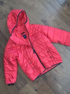 BOYS GAP RED HOODED PUFFER JACKET! LARGE 10
