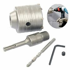 65mm Wall Hole Saw Drill Bit SDS Plus Shank Wrench Kit For Concrete Cement Stone